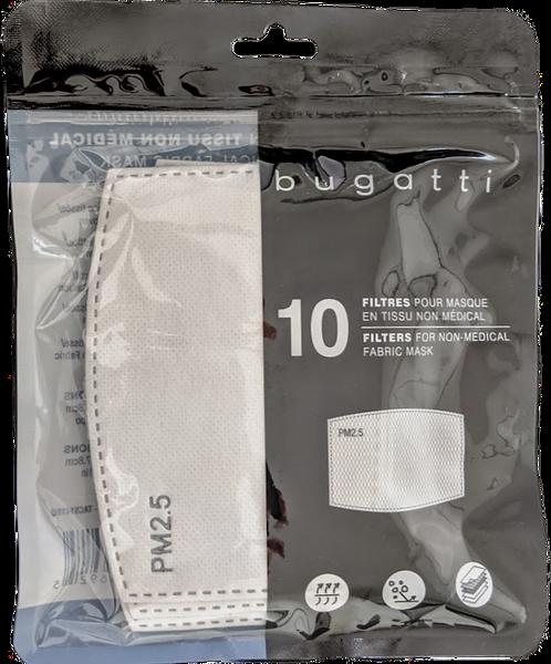 Bugatti. Filtres 5 couches pour masques en tissu. 10/paquet