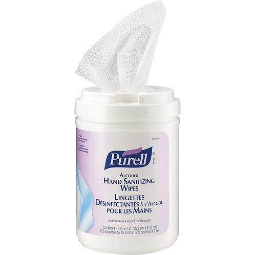 PURELL®  Lingettes désinfectantes mains et surfaces - 175/Tube