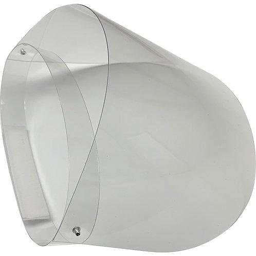 Visière transparente relevable avec harnais de tête
