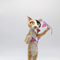 VE day devon cat