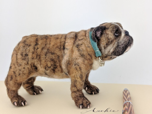 Making Of : Realistic Needle felted Dog - 1. Get to know the model