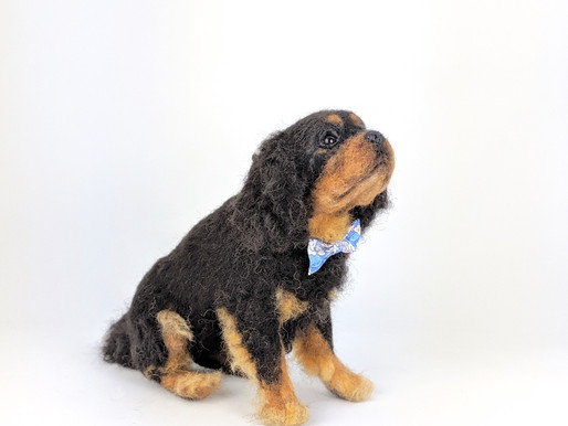 Making Of: Realistic Needle felted Dog -7. Fur Planting