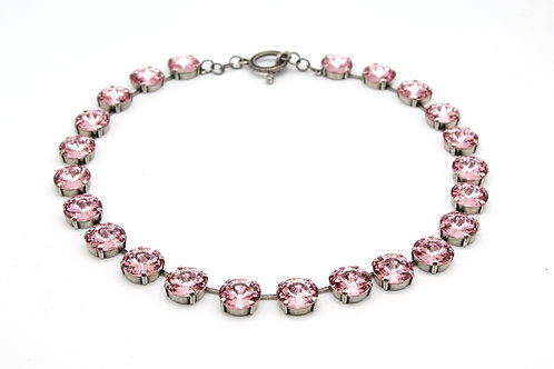 Sarah Jessica Parker Light Rose Swarovski Crystal Collar Chocker Necklace