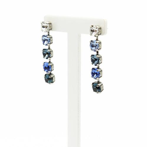 blue earrings-ombre earrings-long earrings-hanging earrings