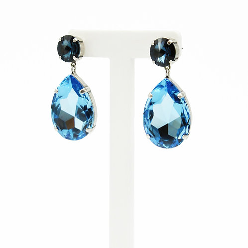 edgy earrings-oversize earrings-Sapphire Earrings-Aquamarine Earrings