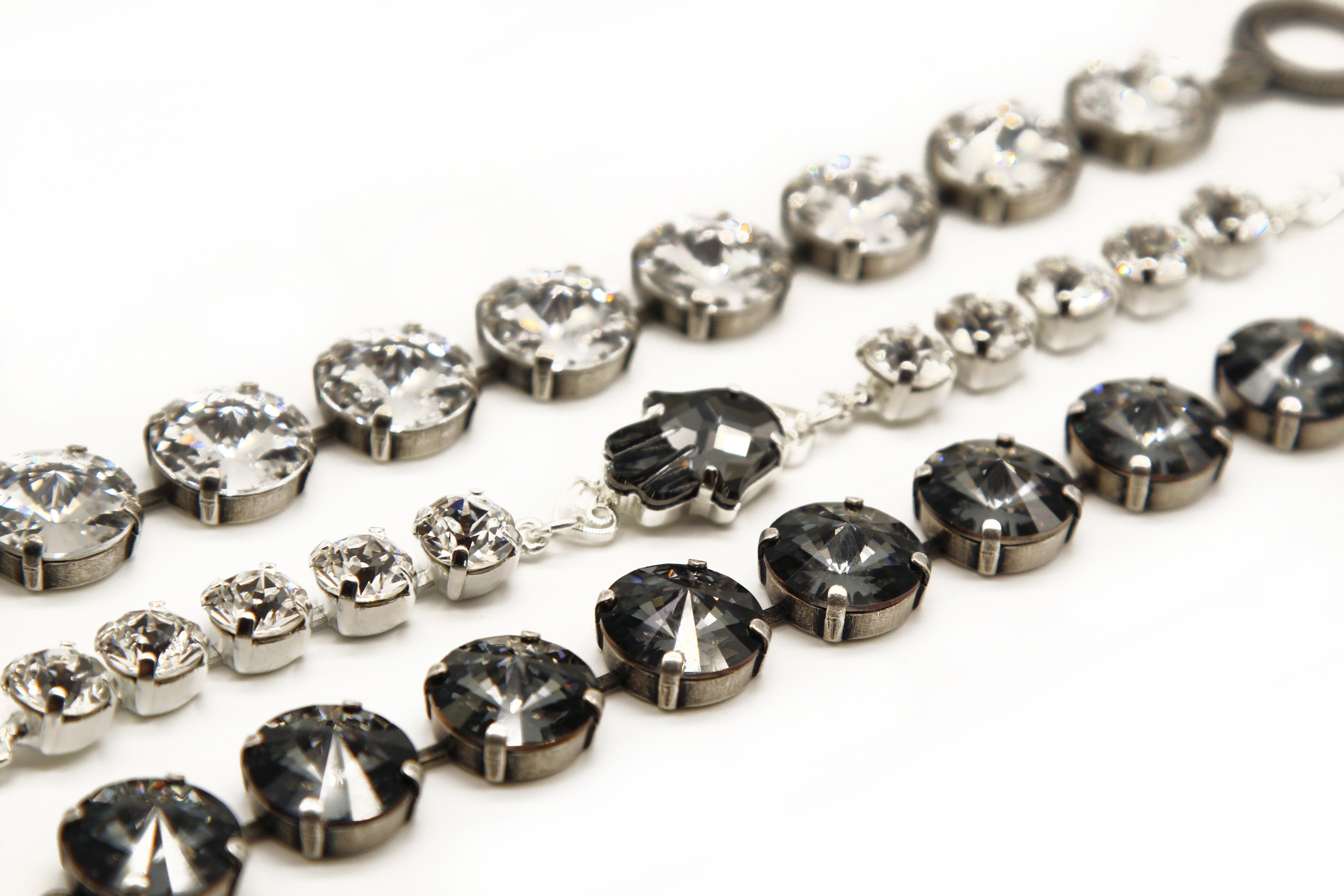 layering crystal bracelets