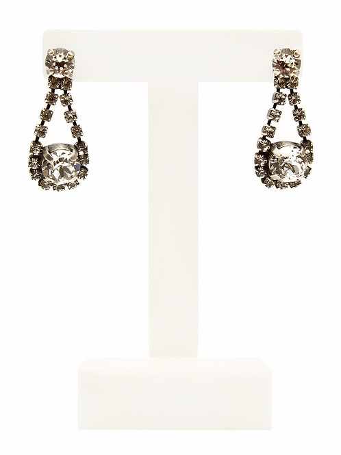 Crystal Dangle Stud Earring