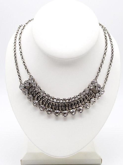 edgy Swarovski elements necklace