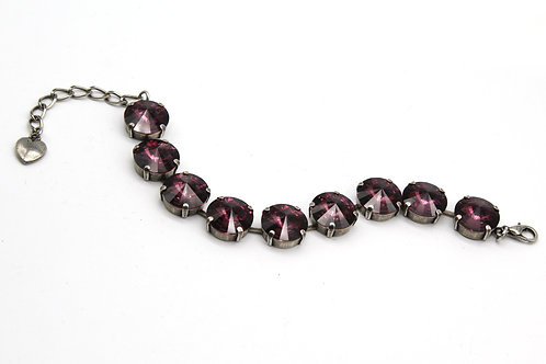 Purple Bridal Jewelry-Amethyst bracelet-Purple Bridal Bracelet