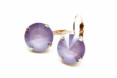 Purple Statement Earrings-Purple Jewelry-Dangle Earrings-Lilac