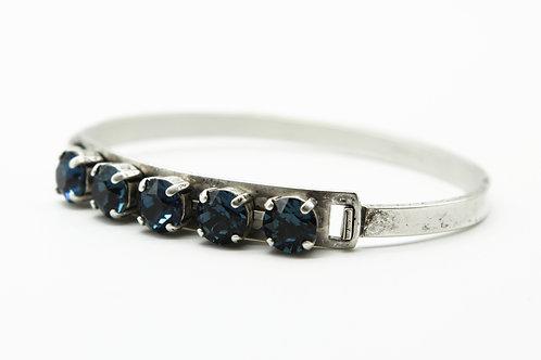 Sapphire blue Swarovski Crystal bangle bracelet