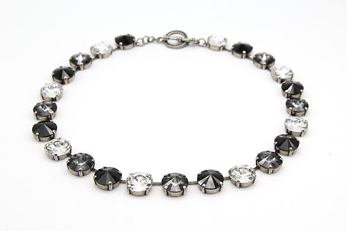 round crystal glass Riviere Necklace