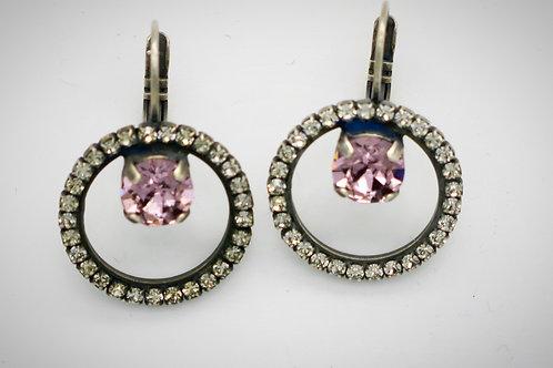 Gemometric Jewelry Earrings in light purple amethyst lever backs