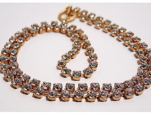 Swarovski Crystal Long Tennis Necklace