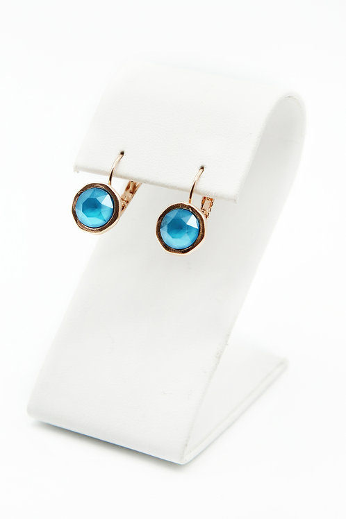 rose gold turquoise earrings