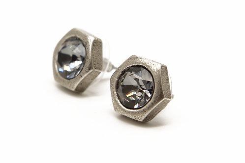 Screw nut stud earring