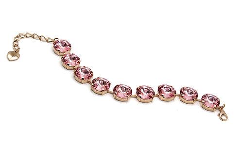 Jewelry, Bracelet, Light Rose Swarovski crystal bracelet, rose gold