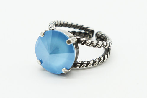 Blue Solitaire Ring