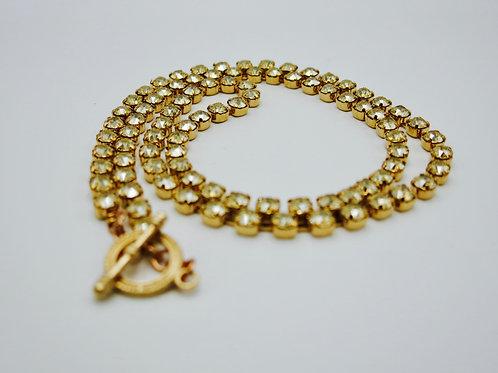 "Swarovski Crystal Golden Shadow Long 32"" Necklace in Rose Gold"