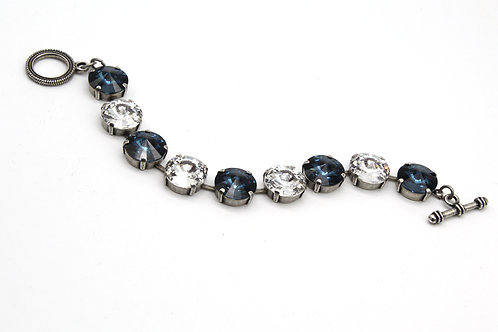 Montana Sapphire Swarovski Crystal Large stone bracelet