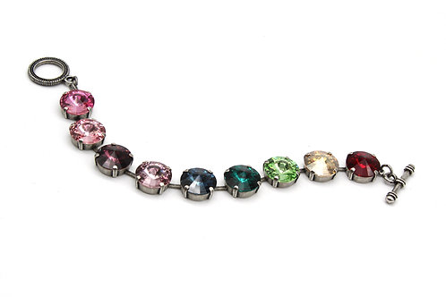 Colorful crystal bracelet-Colorful Bracelet-colorful jewelry for her