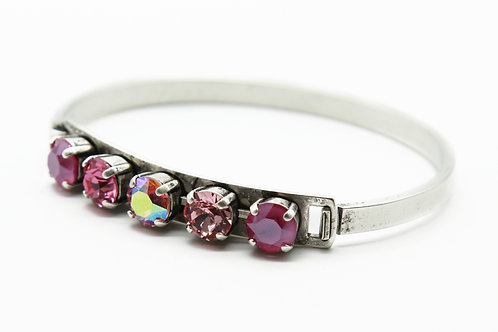 Valentines day Bracelet-Pink Jewelry Gift For Her- Pink Bangle