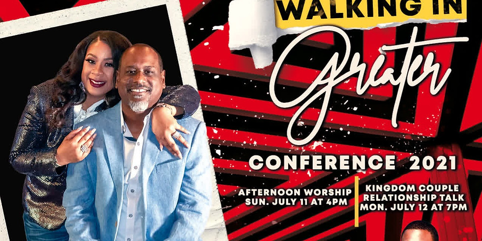 Walking in Greater Conference Registration