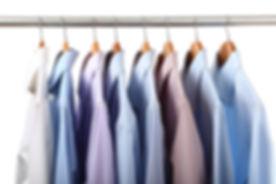 Dress shirts on hangers