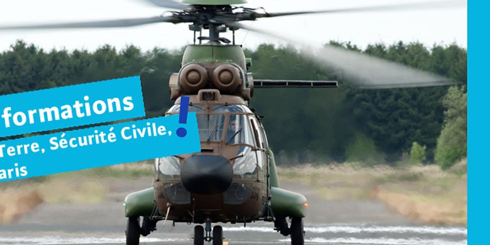 S'informer sur les métiers de l'Armée de Terre, Sécurité Civile, Pompiers de Paris (14h30)
