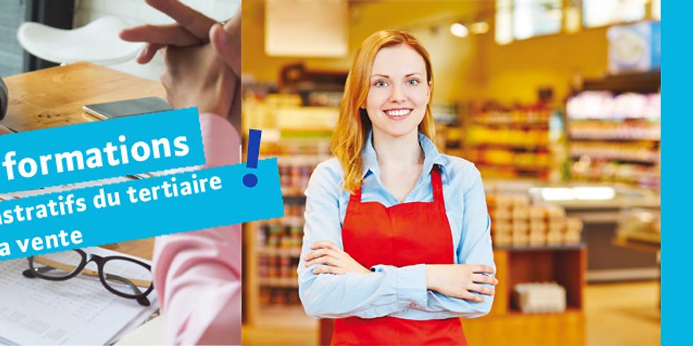 S'informer sur les métiers administratifs du tertiaire et les métiers de la vente (10h30)
