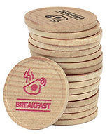 Touco Eco Wooden Tokens Bio Degradable Personalised