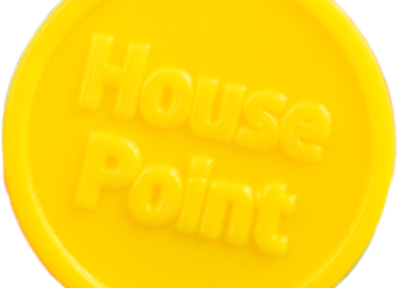 Small Yellow Plastic 25mm House Point Tokens -Pack of 500