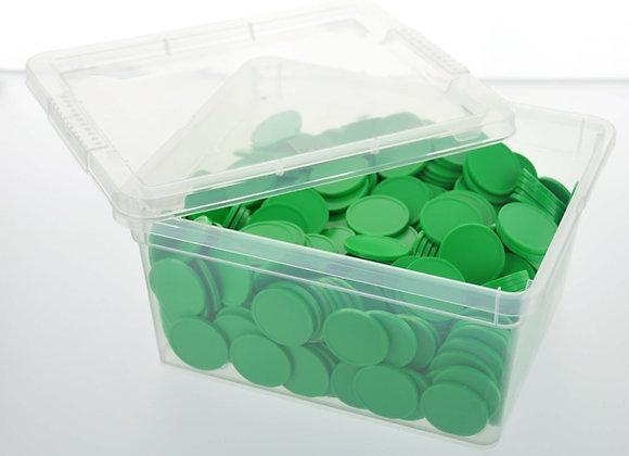 Box of 500 29mm Plain Light Green Tokens