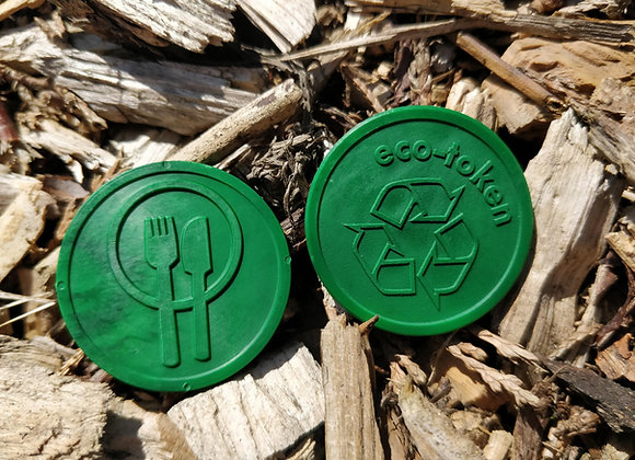 Biodegradable Eco Tokens Embossed 29mm Green Meal (500)