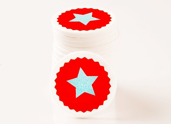 Stock Printed 29mm Star Tokens (1000 Tokens)