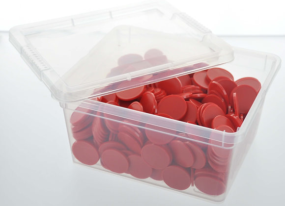 Box of 500 29mm Plain Red Tokens