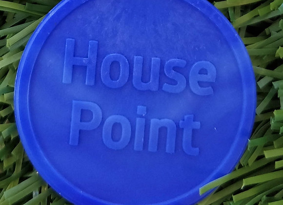 Large Blue Eco House Point Tokens 35mm - Pack of 500