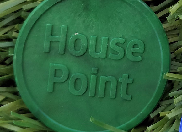 Large Green Eco House Point Tokens 35mm - Pack of 500