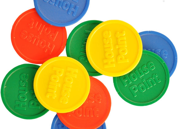 Mixed Large House Point Tokens-Pack of 1000 Tokens