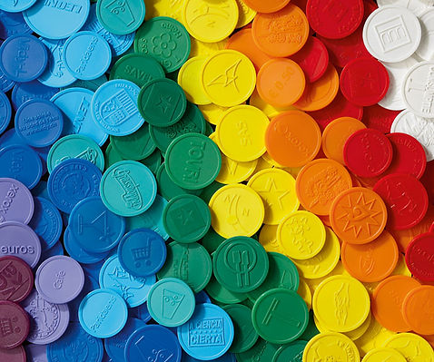 Embossed Personalised Plastic Tokens, Custom Plastic Tokens