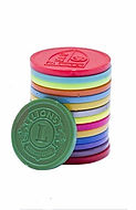 Touco Personalised Embossed Plastic Tokens