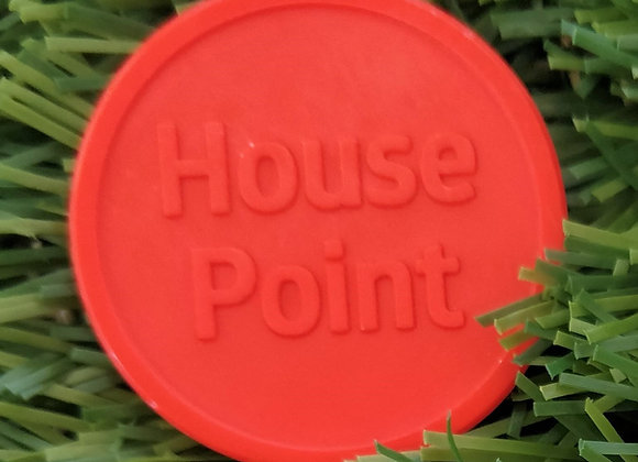 Large Red Eco House Point Tokens 35mm - Pack of 500