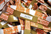 Touco Fabric Woven Printed Personalised Custom Wristbands Festival Sequential Numbering