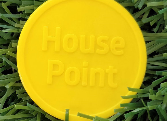 Small Yellow Eco House Point Tokens 29mm - Pack of 500