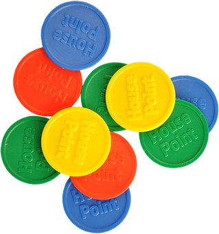 Touco House Point Plastic Tokens, Embossed Tokens, Reward Tokens