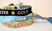 Touco Fabric Woven Printed Personalised Custom Wristbands Festival Metallic Thread