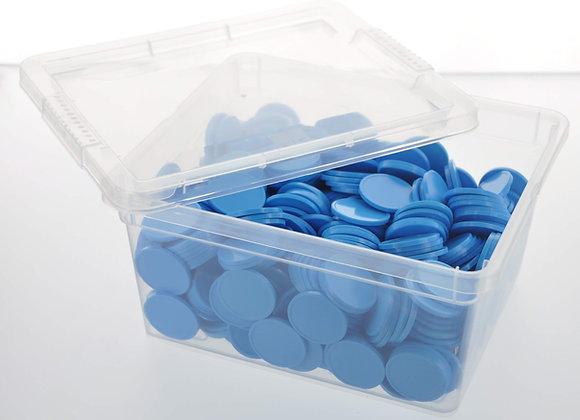 Box of 500 29mm Plain Light Blue Tokens