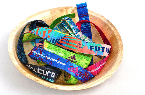 Touco Fabric Woven Printed Personalised Custom Wristbands Festival