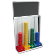 Touco Plastic Token Collection Tubes and Boxes House Point Token System
