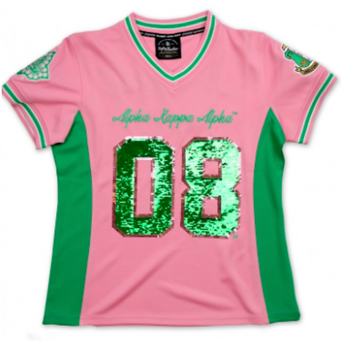 ALPHA KAPPA ALPHA SEQUIN FOOTBALL JERSEY